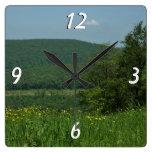Laurel Highlands Pennsylvania Summer Photography Square Wall Clock