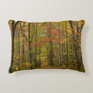 Laurel Hill Trail in Fall Decorative Pillow