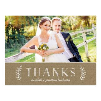 Laurel Kraft Paper | Photo Thank You Post Cards
