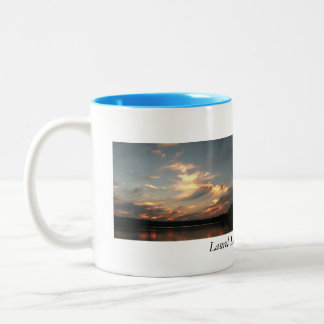 Laurel Lake, Lenox, MA Two-Tone Coffee Mug