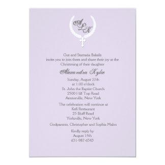 Laurel Leaf Cross Religious Invitation