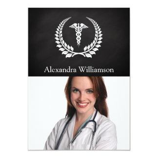 Laurel médico del caduceo invitación