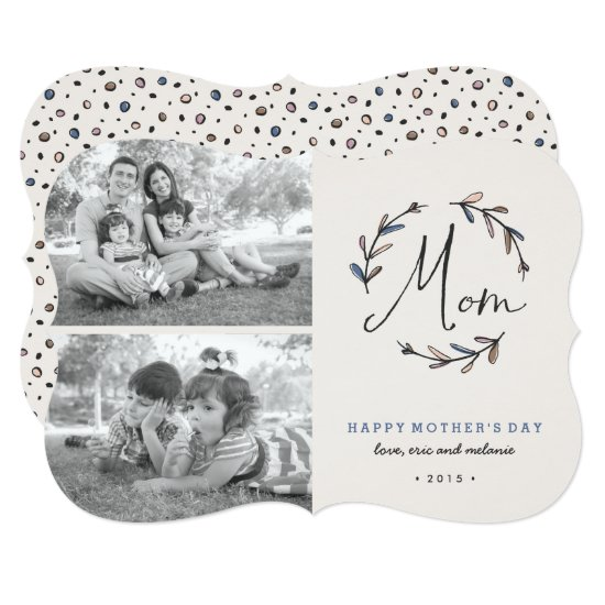 Laurel Mother's Day 2-Photo Card - Midnight