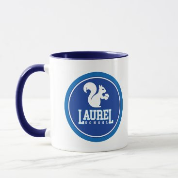 Beach Themed Laurel School Navy mug