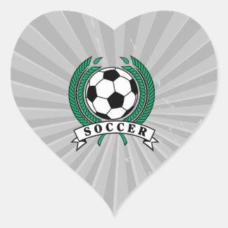 laurel soccer emblem graphic heart sticker