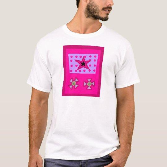 Laurel Star on Pink T-Shirt