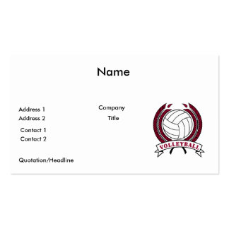laurel volleyball emblem design Double-Sided standard business cards (Pack of 100)