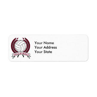 laurel volleyball emblem design label