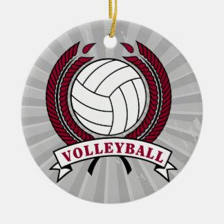 laurel volleyball emblem design ornaments