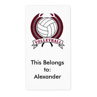laurel volleyball emblem design shipping label