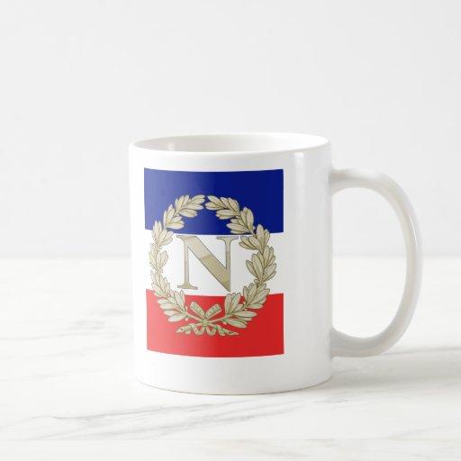 Laurel w de N tricolor Tazas De Café