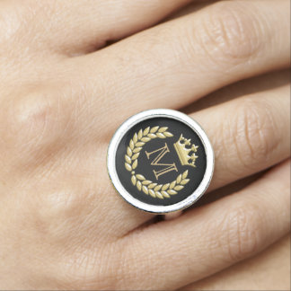 Laurel Wreath and Crown Ring