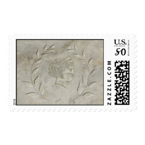 Laurel wreath and Goddess Juno stamp