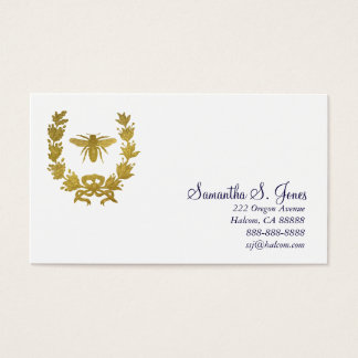 Laurel Wreath and Napoleonic Bee-1 Business Card