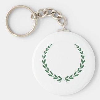 Laurel Wreath Basic Round Button Keychain