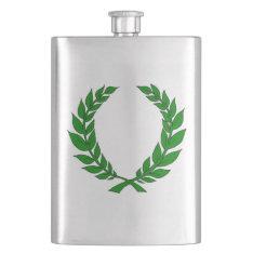 Laurel Wreath Flask at Zazzle