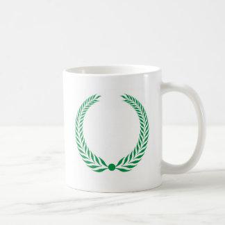 Laurel Wreath - Green Mugs