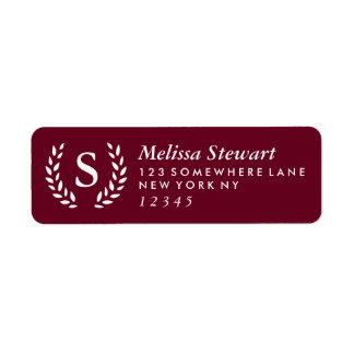 Laurel Wreath Monogram Label