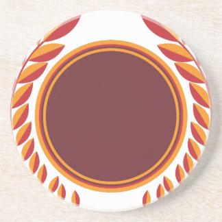 Laurel Wreath Shield Drink Coaster
