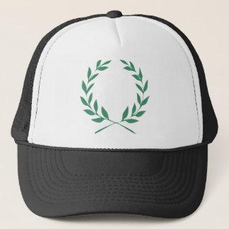 Laurel wreath trucker hat