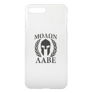 Laureles del guerrero de Molon Labe en el carbono Fundas Para iPhone 7 Plus