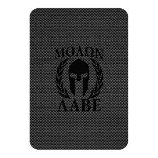 """Laureles del guerrero de Molon Labe en el carbono Invitación 3.5"""" X 5"""""""