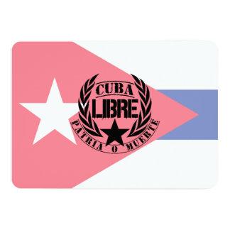 """Laureles del lema de Cuba Libre Invitación 5"""" X 7"""""""