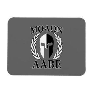 Laureles espartanos de la armadura de la máscara rectangle magnet
