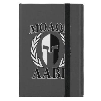 Laureles espartanos de la máscara de Molon Labe iPad Mini Funda