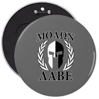 Laureles espartanos del casco de Molon Labe monocr Pin