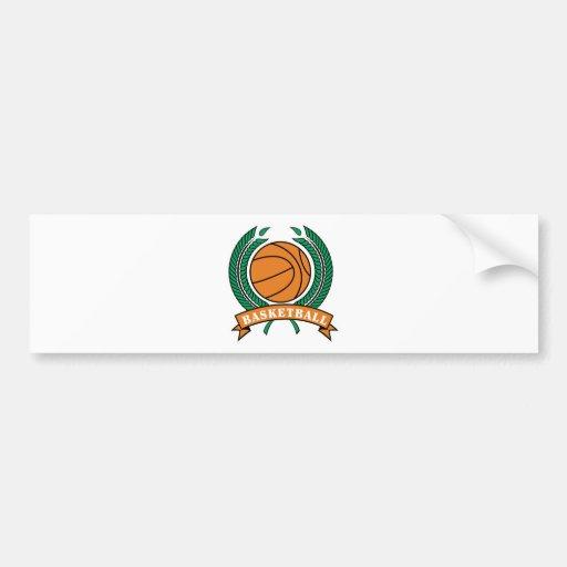 laurels basketball design car bumper sticker