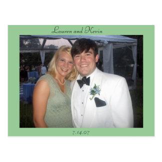 Lauren and Kevin Postcard