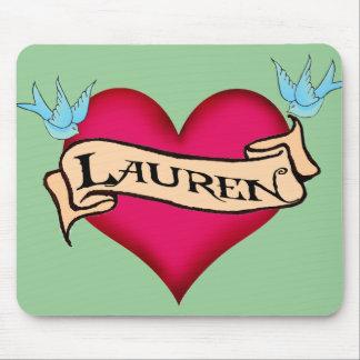 Lauren - camisetas y regalos de encargo del tatuaj alfombrillas de ratones