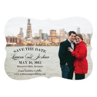 Lauren Detroit save the date Card