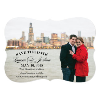 "Lauren Detroit Save the Date 5"" X 7"" Invitation Card"