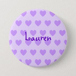 Lauren in Purple Pinback Button