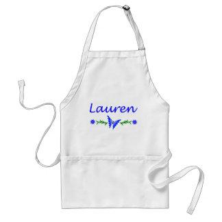 Lauren (mariposa azul) delantales