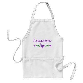 Lauren (mariposa púrpura) delantal