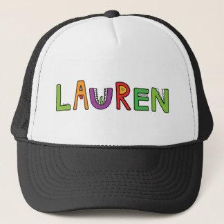 """Lauren"" Monster Letters Trucker Hat"