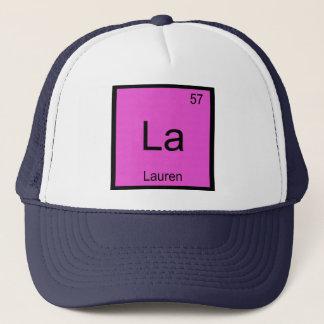 Lauren Name Chemistry Element Periodic Table Trucker Hat