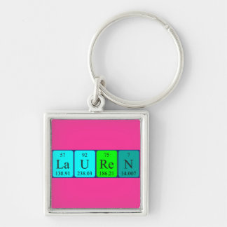 Lauren periodic table name keyring keychain
