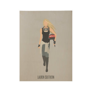 Lauren Southern - Minimalist - Wood Poster