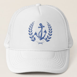 Lauren Wreath and Anchor with Rope Trucker Hat