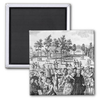 Laurence Sterne 2 Inch Square Magnet