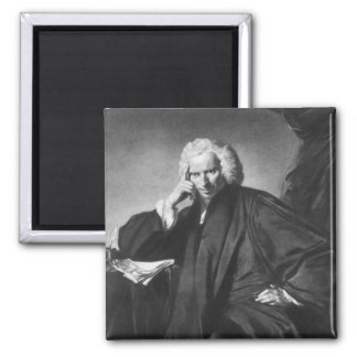 Laurence Sterne, engraved by Edward Fisher 2 Inch Square Magnet
