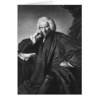 Laurence Sterne, engraved by Edward Fisher Card