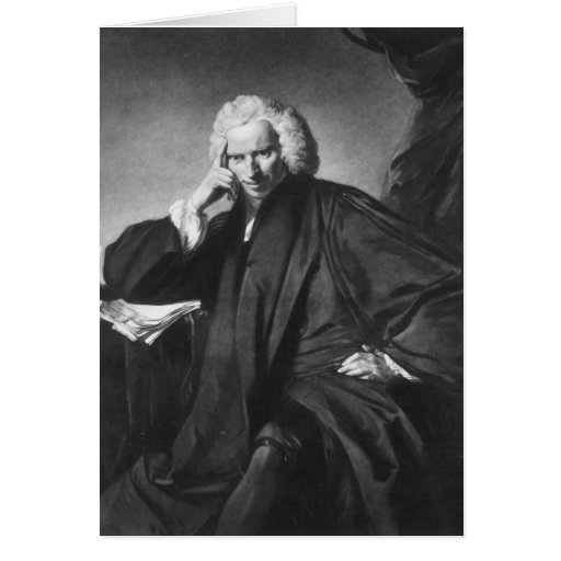 Laurence Sterne, engraved by Edward Fisher Greeting Card