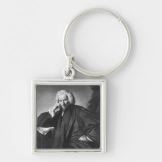 Laurence Sterne, engraved by Edward Fisher Keychain