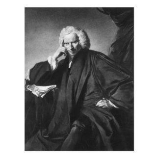Laurence Sterne, engraved by Edward Fisher Postcard