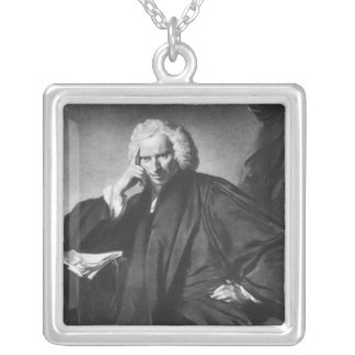 Laurence Sterne, engraved by Edward Fisher Silver Plated Necklace